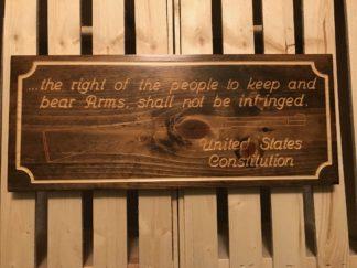 2nd amendment wood sign