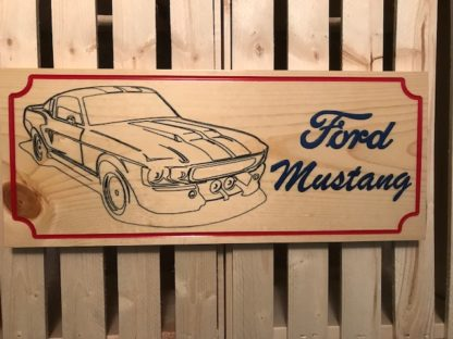 ford mustang wood sign
