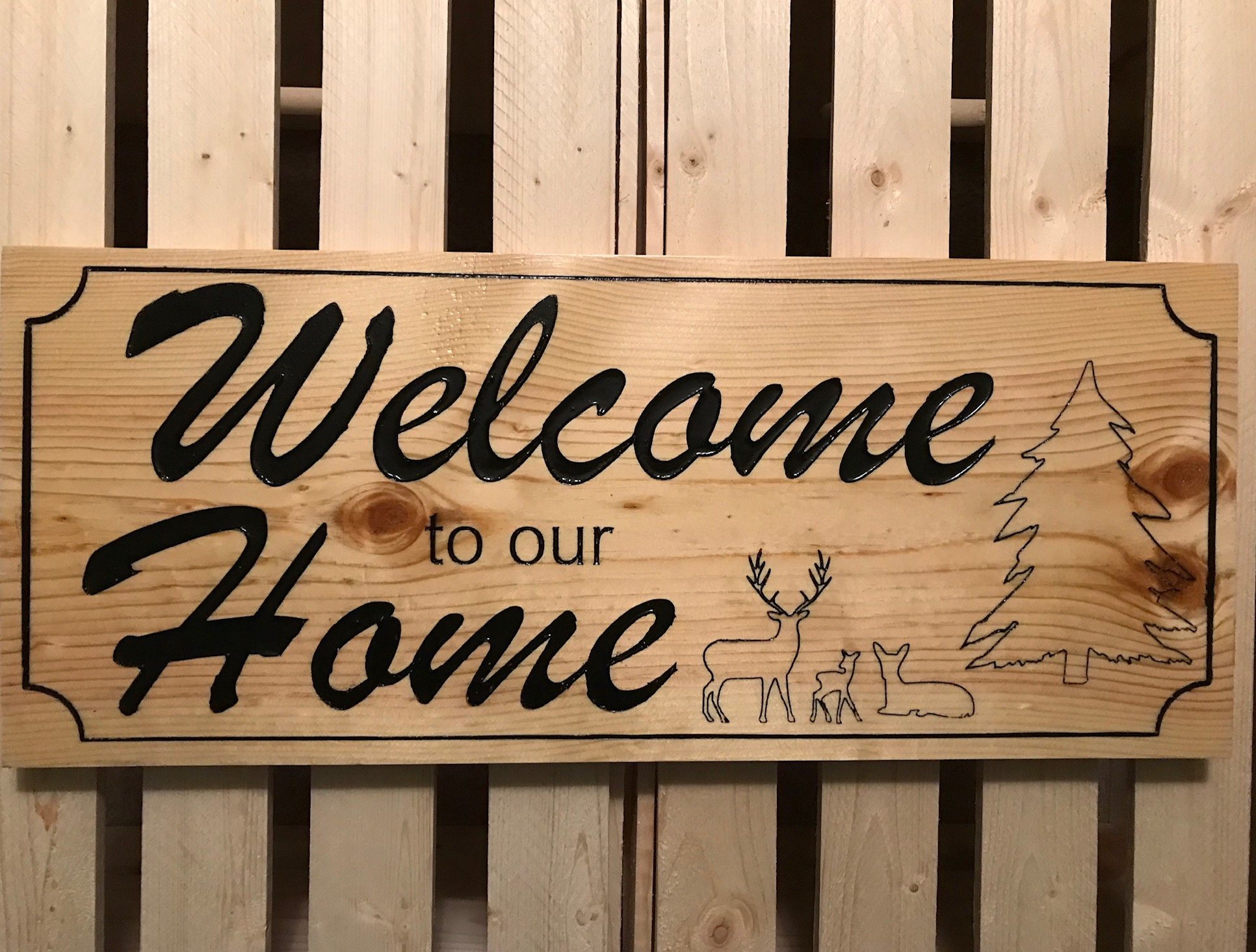 Welcome to Our Home - Wood Sign Creations