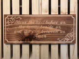 bless us prayer wood sign