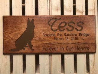 dog pet memorial wood sign