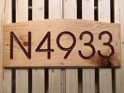 address wood sign house numbers