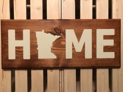 minnesota state wood sign